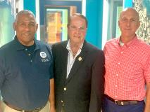FEMA Emergency Division Director Mark Walters, Holland L Redfield II and VITEMA Director Daryl Jaschen